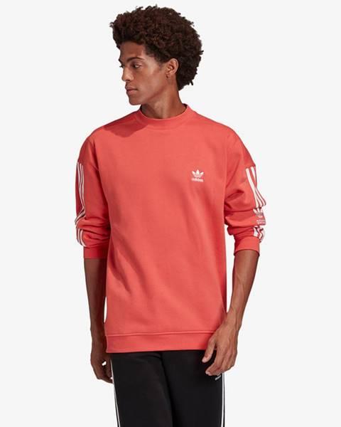 Červená bunda bez kapucne adidas Originals