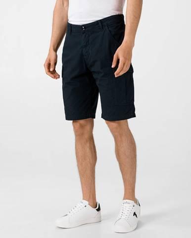 Modré kraťasy Trussardi Jeans