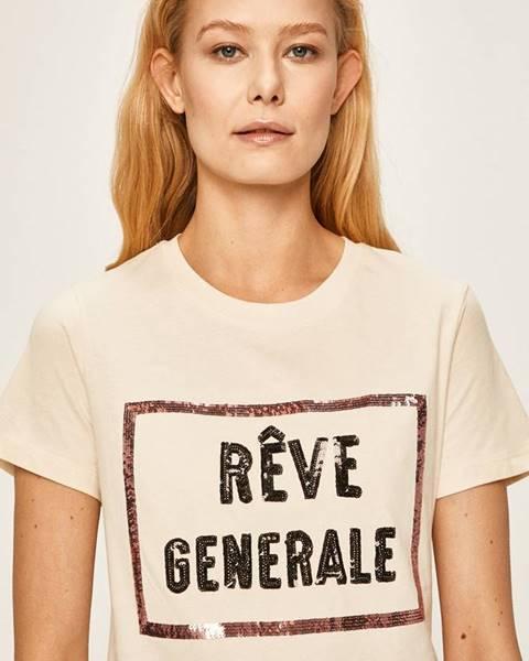 Béžové tričko Silvian Heach