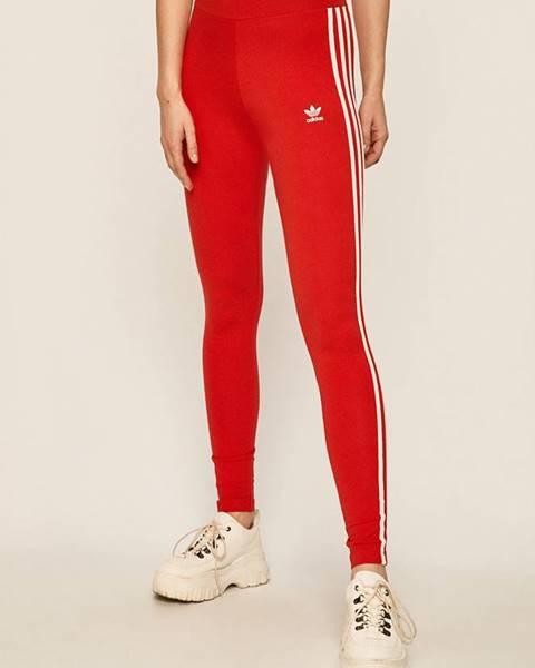 Červené legíny adidas Originals
