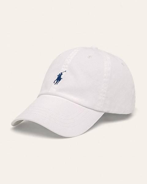 Biela čiapka Polo Ralph Lauren