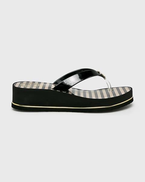 Čierne sandále Guess Jeans