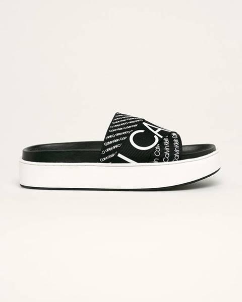 Čierne sandále Calvin Klein