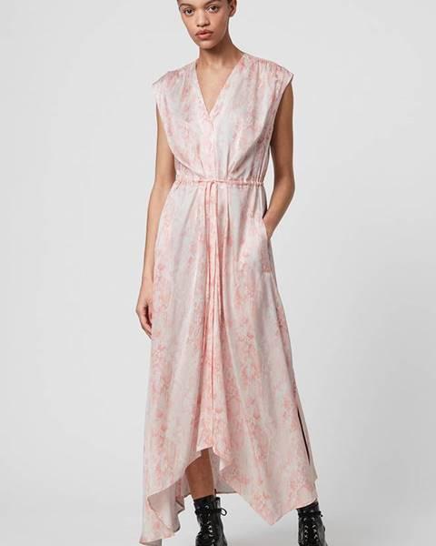 Ružové šaty AllSaints