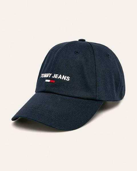 Tmavomodrá čiapka Tommy Jeans