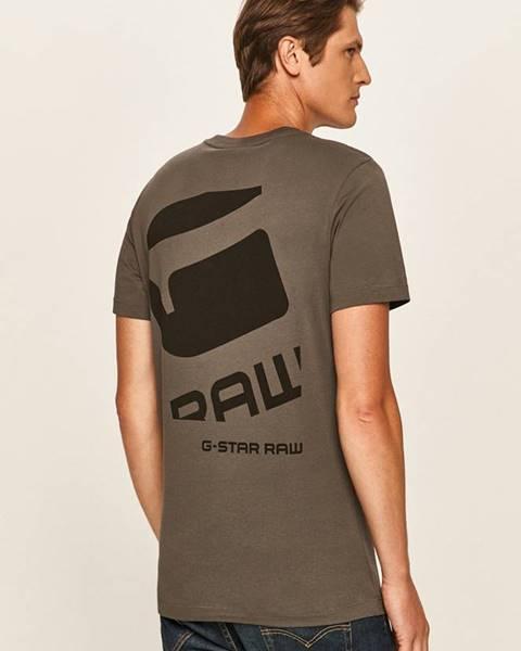 Sivé tričko G-Star Raw