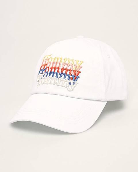 Biela čiapka Tommy Jeans