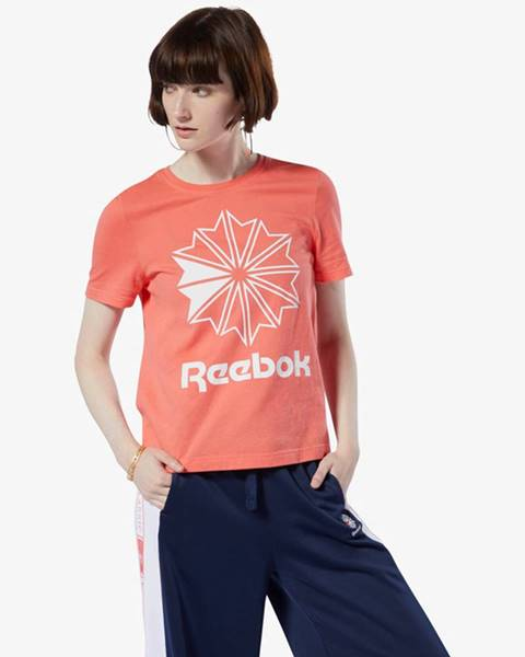 Oranžové tričko Reebok Classic