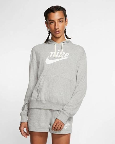 Sivá mikina s nápisom Nike