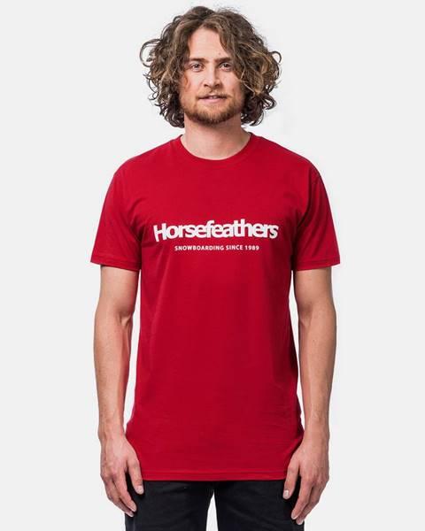 Červené tričko Horsefeathers