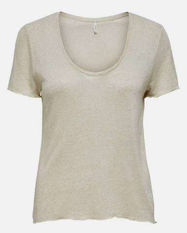 Béžové tričko Only