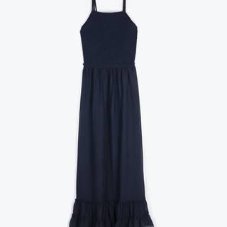 Šifónové šaty s odhaleným chrbtom