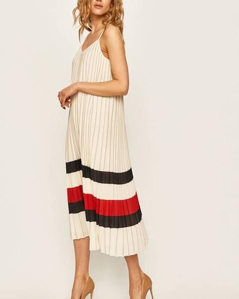 Béžové šaty Tommy Hilfiger