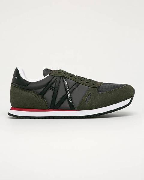 Zelené topánky Armani Exchange