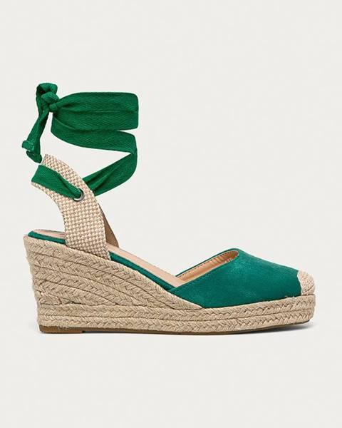 Zelené espadrilky Answear