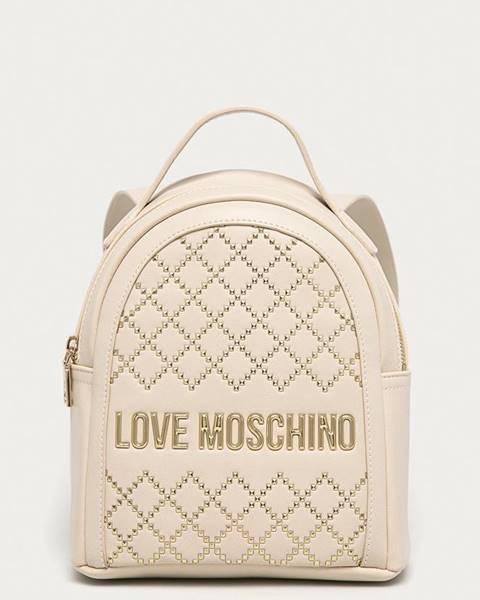 Béžový batoh Love Moschino