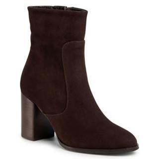 Členkové topánky Gino Rossi 18401 koža(useň) zamšová