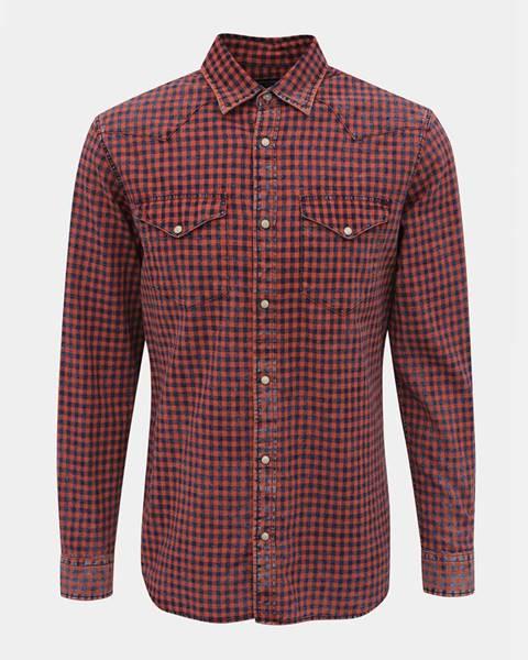 Červená košeľa Jack & Jones