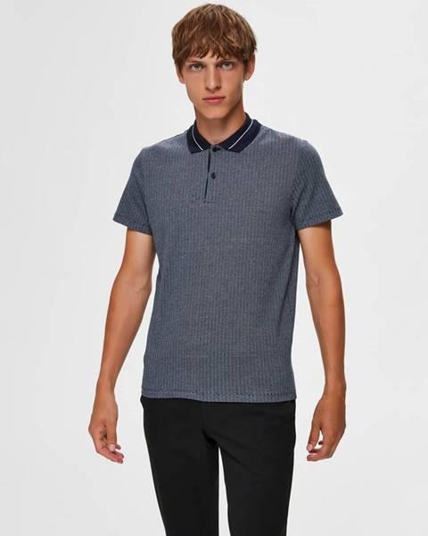 Modrá košeľa Selected Homme